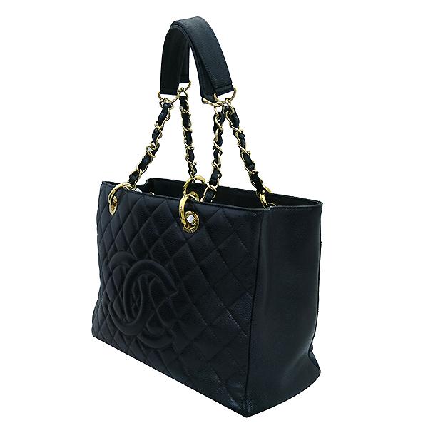 Chanel(샤넬) A50995Y01588 캐비어스킨 블랙 그랜드샤핑 금장 로고 체인 숄더백 [부산센텀본점] 이미지3 - 고이비토 중고명품