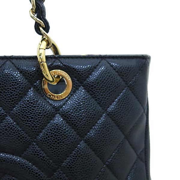 Chanel(샤넬) A50995Y01588 캐비어스킨 블랙 그랜드샤핑 금장 로고 체인 숄더백 [부산센텀본점] 이미지4 - 고이비토 중고명품