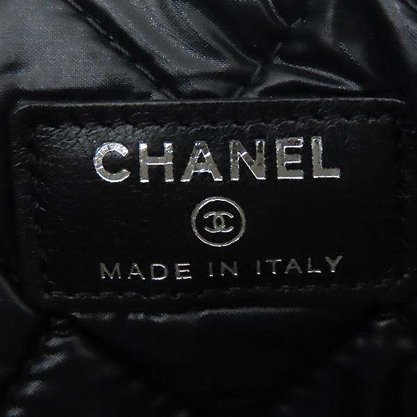 Chanel(샤넬) 시즌 리미티드 은장 로고 장식 페이던트 L사이즈 클러치 [대전본점] 이미지6 - 고이비토 중고명품