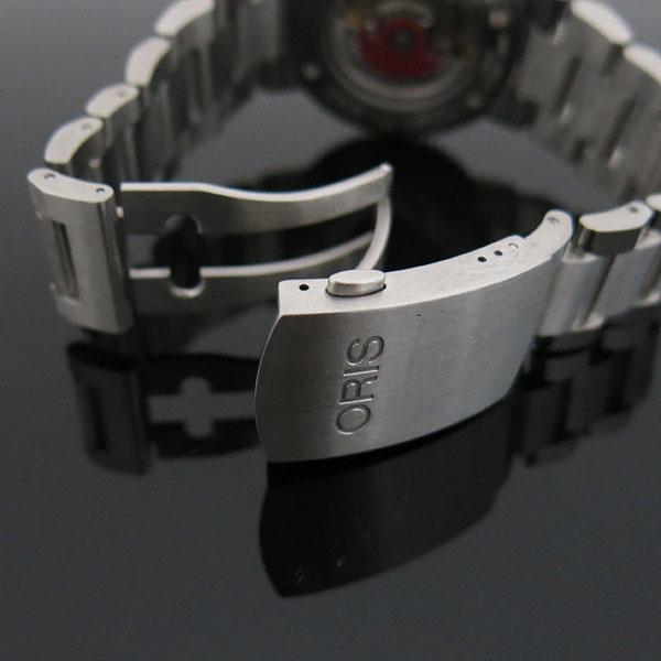 ORIS(오리스) 733 7653 AQUIS(애커스) 오토매틱 시스루백 스틸 밴드 남성용 시계 [대구동성로점] 이미지5 - 고이비토 중고명품