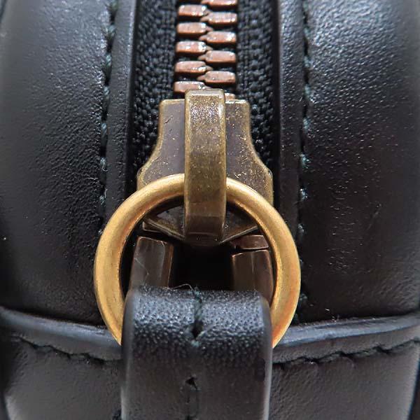 Gucci(구찌) 476434 블랙 레더 마틀라세 마몬트 GG 로고 힙색 벨트백 [인천점] 이미지5 - 고이비토 중고명품