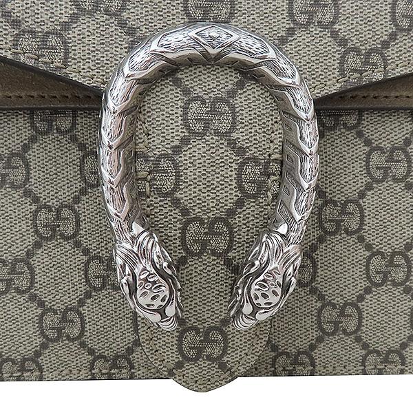 Gucci(구찌) 400249 Dionysus(디오니소스) 타이거 헤드 GG 로고 수프림 캔버스 체인 브라운 컬러 숄더백 [부산서면롯데점] 이미지4 - 고이비토 중고명품