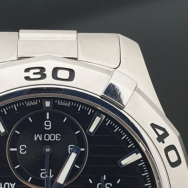 Tag Heuer(태그호이어) CAP2110 BA0833 AQUARACER (아쿠아레이서) 크로노그래프 오토매틱 스틸 남성용 시계 [부산서면롯데점] 이미지3 - 고이비토 중고명품