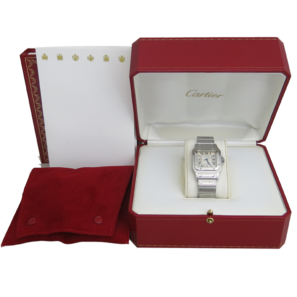 Cartier(까르띠에) W20060D6 산토스 드 까르띠에 갈베 LM사이즈 쿼츠 스틸 남성용시계 [동대문점]