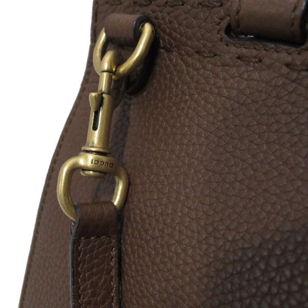 Gucci(구찌) 421890 브라운 레더 GG Marmont(마몬트) 금장 로고 토트백 + 숄더스트랩 2WAY [대구반월당본점] 이미지5 - 고이비토 중고명품