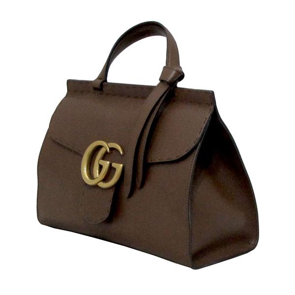 Gucci(구찌) 421890 브라운 레더 GG Marmont(마몬트) 금장 로고 토트백 + 숄더스트랩 2WAY [대구반월당본점] 이미지3 - 고이비토 중고명품