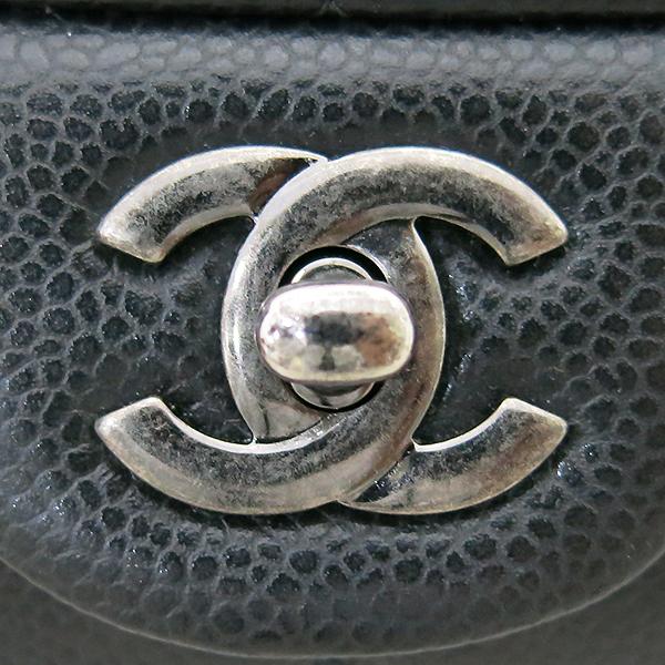 Chanel(샤넬) A65051 TIMELESS(타임 리스) CLASSIC(클래식) 블랙 캐비어 클러치겸 은장 체인 숄더백 [부산센텀본점] 이미지5 - 고이비토 중고명품