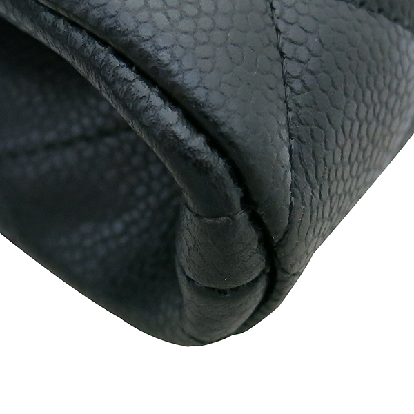 Chanel(샤넬) A65051 TIMELESS(타임 리스) CLASSIC(클래식) 블랙 캐비어 클러치겸 은장 체인 숄더백 [부산센텀본점] 이미지6 - 고이비토 중고명품