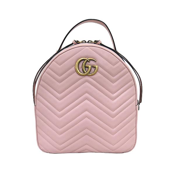 Gucci(구찌) 476671 핑크레더 GG Marmont(마몬트) 마틀라세 백팩 [부산센텀본점] 이미지2 - 고이비토 중고명품