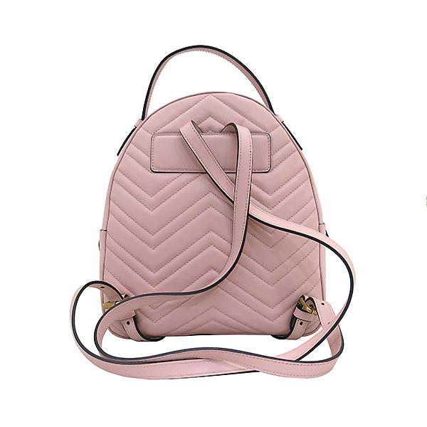 Gucci(구찌) 476671 핑크레더 GG Marmont(마몬트) 마틀라세 백팩 [부산센텀본점] 이미지4 - 고이비토 중고명품