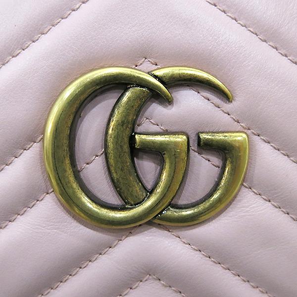 Gucci(구찌) 476671 핑크레더 GG Marmont(마몬트) 마틀라세 백팩 [부산센텀본점] 이미지5 - 고이비토 중고명품