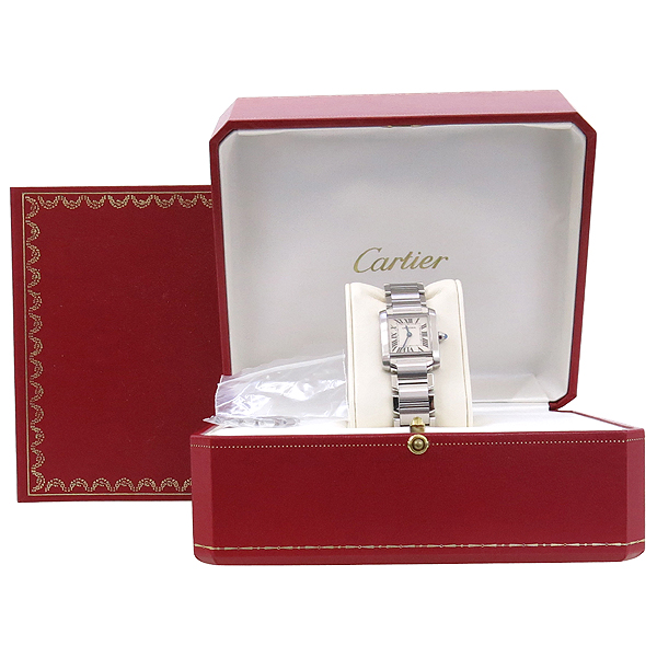 Cartier(까르띠에) W51008Q3 탱크 프랑세스 S사이즈 쿼츠 스틸 여성용 시계 [강남본점]
