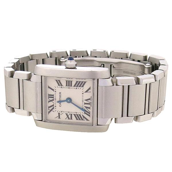 Cartier(까르띠에) W51008Q3 탱크 프랑세스 S사이즈 쿼츠 스틸 여성용 시계 [강남본점] 이미지3 - 고이비토 중고명품