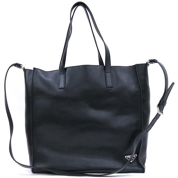 Prada(프라다) 2VG088 블랙 컬러 레더 삼각 로고 장식 숄더백 [강남본점] 이미지2 - 고이비토 중고명품