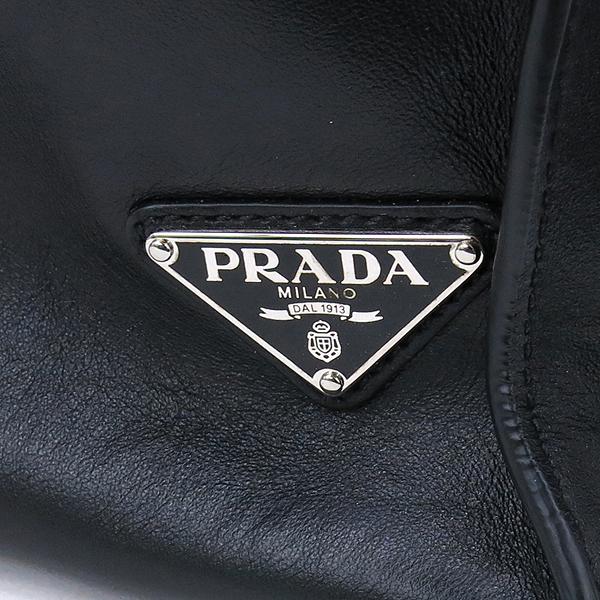 Prada(프라다) 2VG088 블랙 컬러 레더 삼각 로고 장식 숄더백 [강남본점] 이미지4 - 고이비토 중고명품