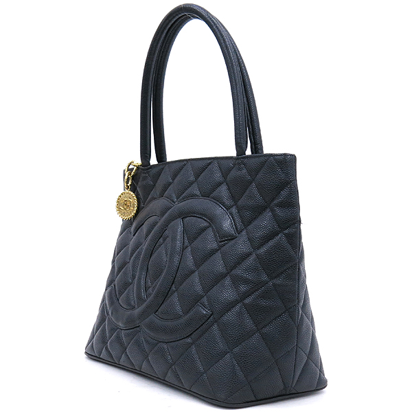 Chanel(샤넬) A01804 캐비어 스킨 블랙 COCO 로고 은장 코인 토트백 [강남본점] 이미지2 - 고이비토 중고명품