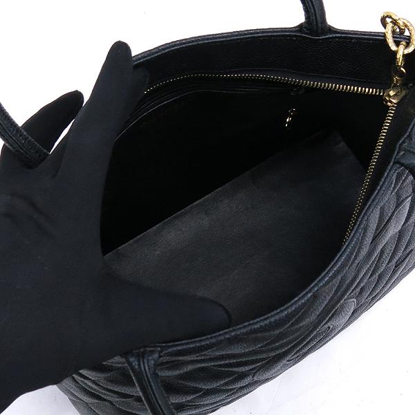 Chanel(샤넬) A01804 캐비어 스킨 블랙 COCO 로고 은장 코인 토트백 [강남본점] 이미지4 - 고이비토 중고명품