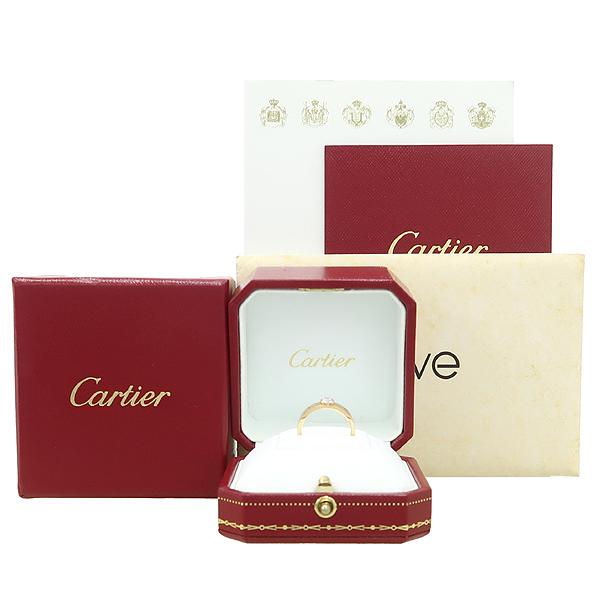 Cartier(까르띠에) N4250151 18K 핑크 골드 D컬러 VS1 0.24ct 1포인트 다이아 솔리테어 러브링 반지 - 11호 [강남본점]