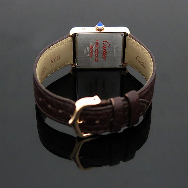 Cartier(까르띠에) W5200024 18K 핑크 골드 콤비 TANK SOLO(탱크 솔로) 다크브라운 컬러 가죽 스트랩 쿼츠 여성용시계 [부산센텀본점] 이미지4 - 고이비토 중고명품