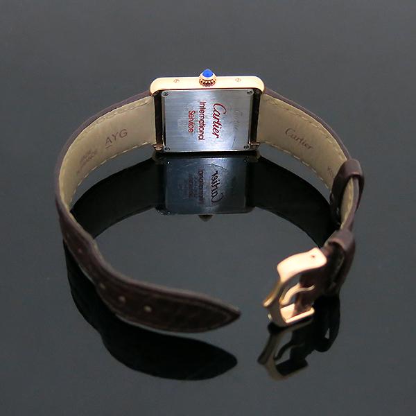 Cartier(까르띠에) W5200024 18K 핑크 골드 콤비 TANK SOLO(탱크 솔로) 다크브라운 컬러 가죽 스트랩 쿼츠 여성용시계 [부산센텀본점] 이미지5 - 고이비토 중고명품