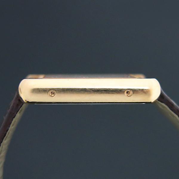 Cartier(까르띠에) W5200024 18K 핑크 골드 콤비 TANK SOLO(탱크 솔로) 다크브라운 컬러 가죽 스트랩 쿼츠 여성용시계 [부산센텀본점] 이미지6 - 고이비토 중고명품