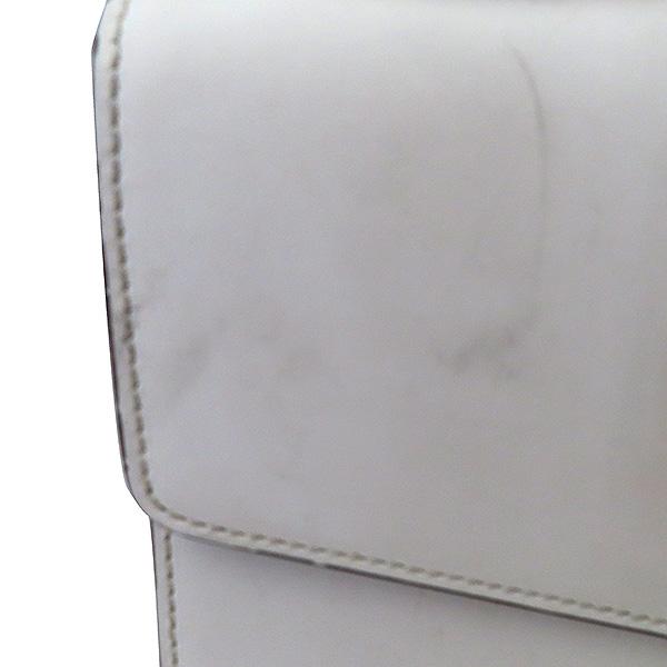 Gucci(구찌) 421882 Gucci Sylvie 실비 화이트 레더 리본 숄더백 + 가죽 스트랩 2WAY [부산서면롯데점] 이미지4 - 고이비토 중고명품