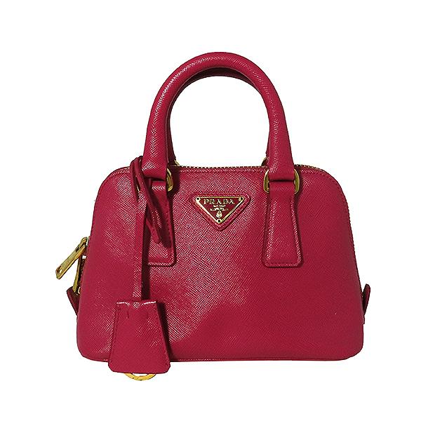 Prada(프라다) BL0851 SAFFIANO LUX(사피아노 럭스) 핑크 컬러 금장 로고 미니 2WAY [대전본점]