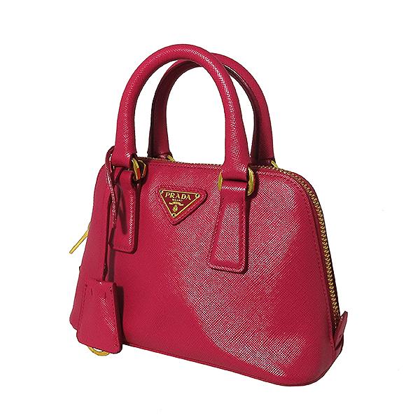 Prada(프라다) BL0851 SAFFIANO LUX(사피아노 럭스) 핑크 컬러 금장 로고 미니 2WAY [대전본점] 이미지3 - 고이비토 중고명품