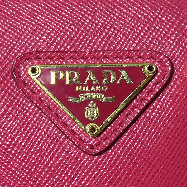 Prada(프라다) BL0851 SAFFIANO LUX(사피아노 럭스) 핑크 컬러 금장 로고 미니 2WAY [대전본점] 이미지6 - 고이비토 중고명품