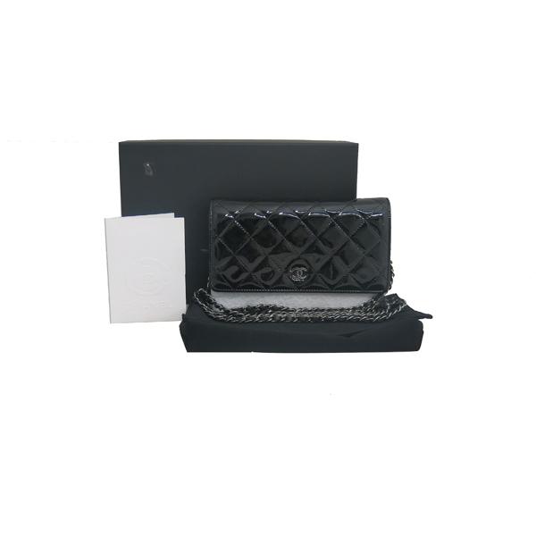 Chanel(샤넬) A33814Y02984 페이던트 블랙 WOC 월릿 온 은장 체인 크로스백 [동대문점]