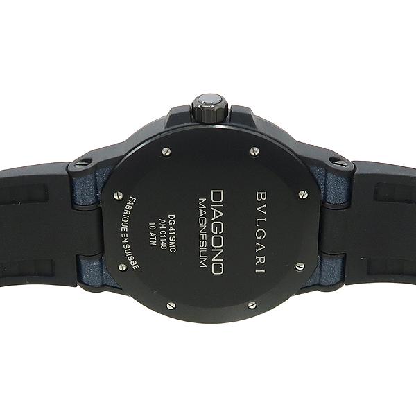 Bvlgari(불가리) DG41SMC DIAGONO (디아고노) MAGNESIUM (마그네슘) 러버 밴드 오토매틱 남성용 시계 [강남본점] 이미지4 - 고이비토 중고명품