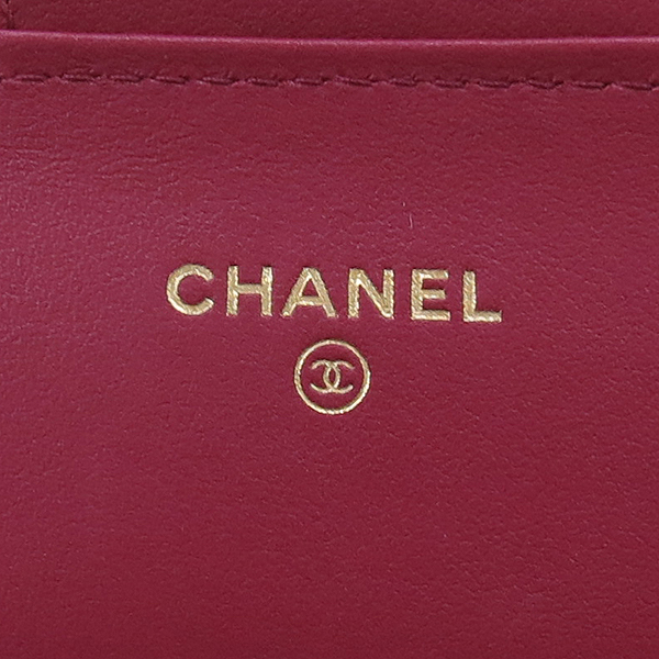 Chanel(샤넬) A80829Y83881 0B890 빈티지 퍼플컬러 쉐브론 스티치 2.55 골드메탈 턴 락 플랩 장지갑 [강남본점] 이미지4 - 고이비토 중고명품