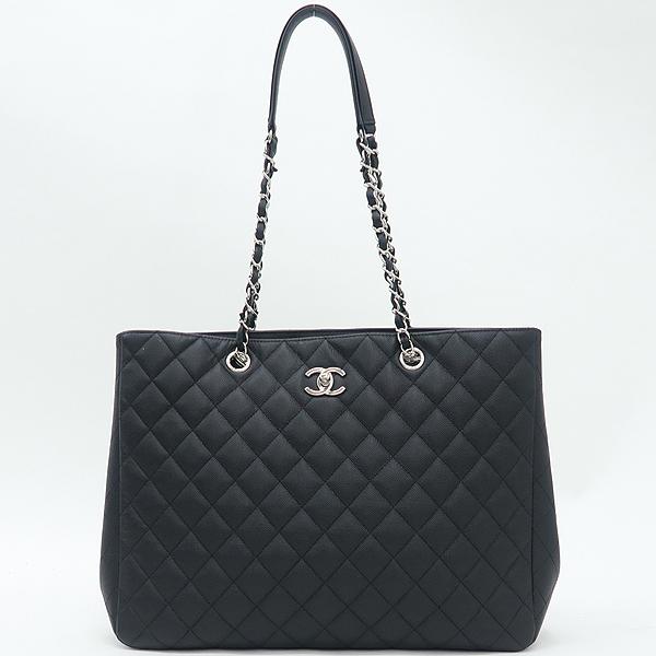 Chanel(샤넬) A91046 캐비어스킨 블랙 퀼팅 마틀라세 메탈 은장로고 타임리스 쇼핑 체인 숄더백 [강남본점] 이미지2 - 고이비토 중고명품