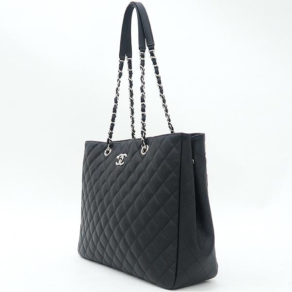 Chanel(샤넬) A91046 캐비어스킨 블랙 퀼팅 마틀라세 메탈 은장로고 타임리스 쇼핑 체인 숄더백 [강남본점] 이미지3 - 고이비토 중고명품