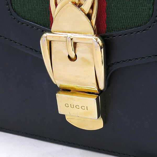 Gucci(구찌) 421882 Gucci Sylvie 실비 레드 레더 리본 토트 스트랩 + 숄더백 [강남본점] 이미지3 - 고이비토 중고명품