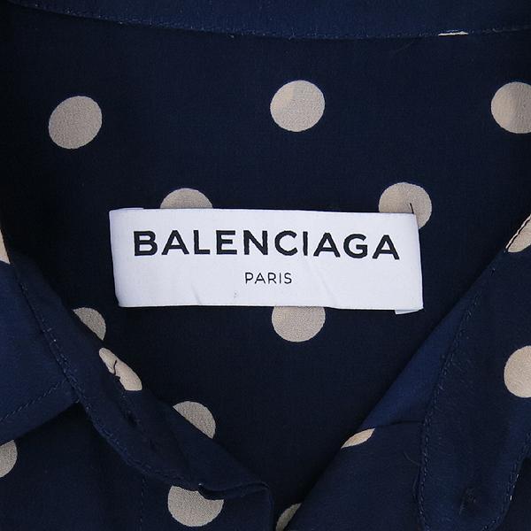 Balenciaga(발렌시아가) 492290 도트 100% 실크 브라우스 [강남본점] 이미지4 - 고이비토 중고명품