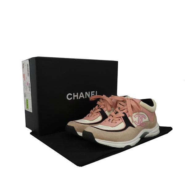 Chanel(샤넬) G34360Y50387 COCO 로고 멀티 컬러 여성용 스니커즈 [대구황금점]