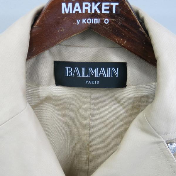 Balmain(발망) 베이지 컬러 100% 면 여성용 하프 코트 + 벨트 SET [동대문점] 이미지2 - 고이비토 중고명품
