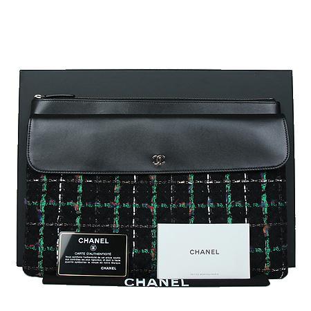 Chanel(샤넬) COCO 은장로고 블랙 램스킨 트위드 클러치백[광주상무점] 이미지2 - 고이비토 중고명품