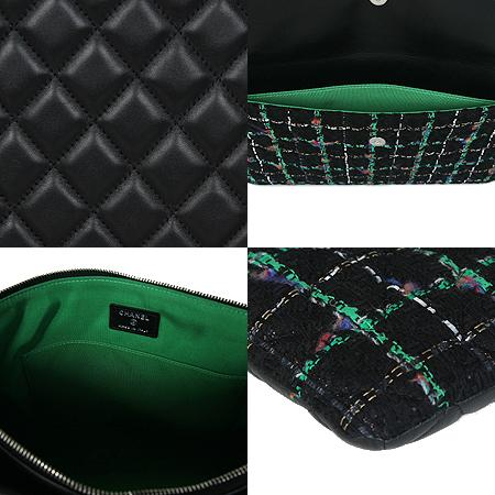 Chanel(샤넬) COCO 은장로고 블랙 램스킨 트위드 클러치백[광주상무점] 이미지5 - 고이비토 중고명품