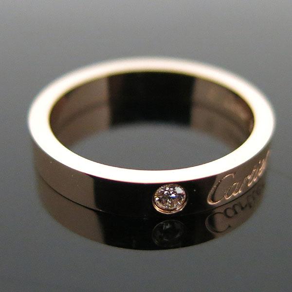 Cartier(까르띠에) B4086451 18K 핑크 골드 까르띠에 인그레이빙 1포인트 다이아 웨딩 밴드 반지 - 11호 [대구동성로점] 이미지2 - 고이비토 중고명품