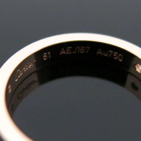 Cartier(까르띠에) B4086451 18K 핑크 골드 까르띠에 인그레이빙 1포인트 다이아 웨딩 밴드 반지 - 11호 [대구동성로점] 이미지3 - 고이비토 중고명품