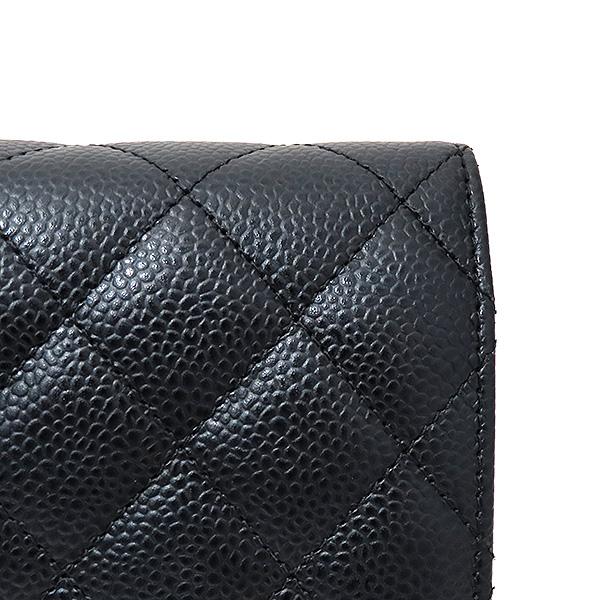 Chanel(샤넬) A33814 금장 블랙 캐비어 WOC 월릿 온 금장 체인 크로스백 [부산서면롯데점] 이미지4 - 고이비토 중고명품