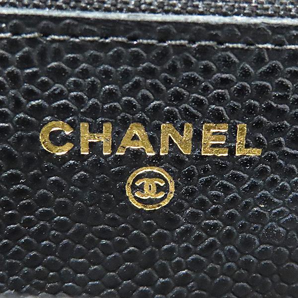 Chanel(샤넬) A33814 금장 블랙 캐비어 WOC 월릿 온 금장 체인 크로스백 [부산서면롯데점] 이미지5 - 고이비토 중고명품