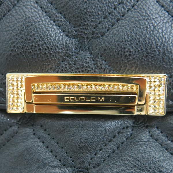 DOUBLE M(더블엠) 블랙 퀼팅 금장 락 디테일 체인 플랩 숄더백 [동대문점] 이미지3 - 고이비토 중고명품
