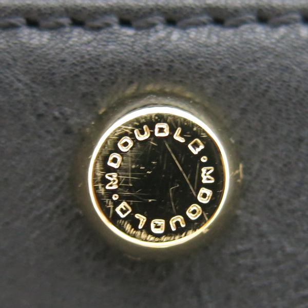 DOUBLE M(더블엠) 블랙 퀼팅 금장 락 디테일 체인 플랩 숄더백 [동대문점] 이미지5 - 고이비토 중고명품