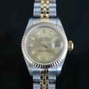 로렉스 18K 콤비 다이아 여성시계