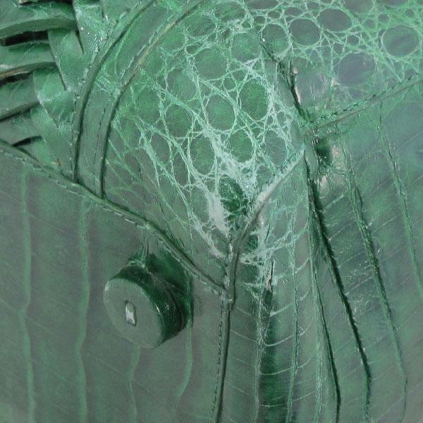 NANCY GONZALEZ(낸시 곤잘레스) 와니 그린 컬러 리얼 크로크다일 토트백 + 숄더스트랩 2WAY [대구반월당본점] 이미지5 - 고이비토 중고명품