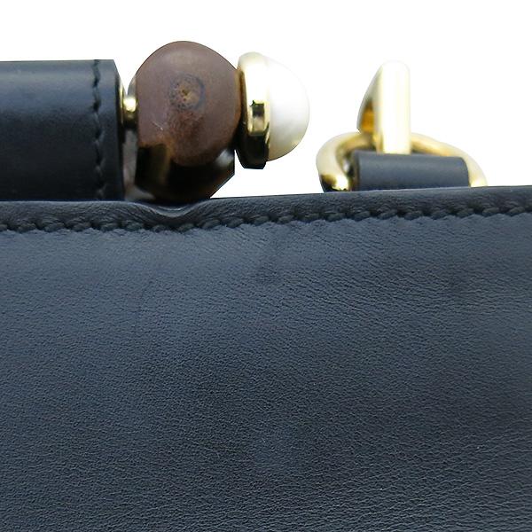 Gucci(구찌) 459076 블랙 컬러 레더 뱀부 토트백 + 숄더 스트랩  [부산센텀본점] 이미지5 - 고이비토 중고명품
