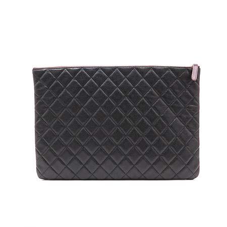 Chanel(샤넬) 캐비어스킨 COCO 은장 로고 L 클러치백 (W) 이미지4 - 고이비토 중고명품